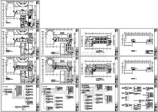 南京某5层高档办公楼照明系统设计CAD施工图-图二