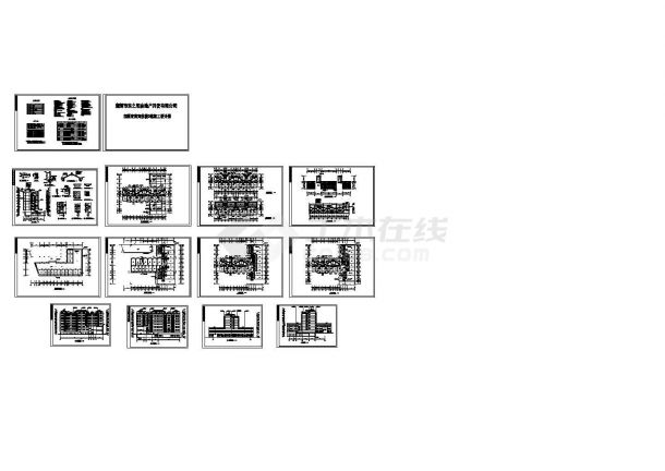 某7层商务住宅楼设计cad整套建筑施工图(含设计说明)-图一