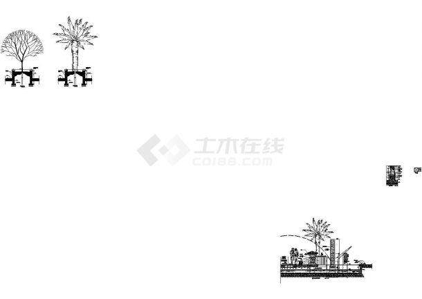 居住区会所周边环境园林景观园建施工图CAD-图一