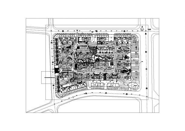 [安徽]高档居住小区园林景观工程园建施工图全套,含施工图设计说明-图一