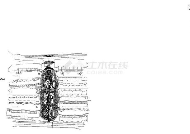 住宅小区园林景观工程施工图全套(含设计说明)-图一
