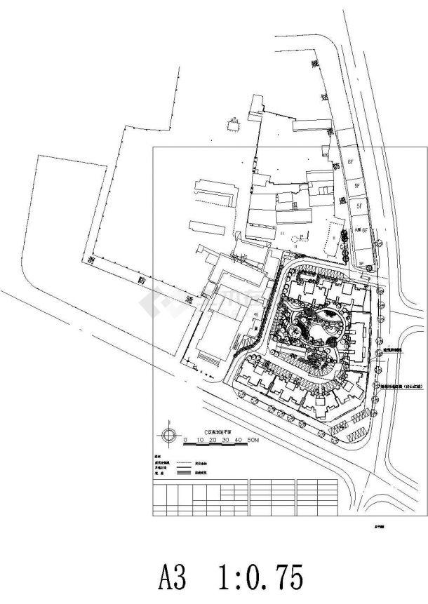[广西]居住区园林景观绿化平面图CAD-图一