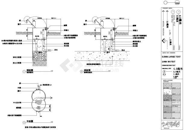[天津]住宅小区园林景观水景设计施工图CAD-图一