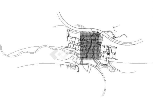 [天津]住宅小区园林景观水景设计施工图CAD-图二