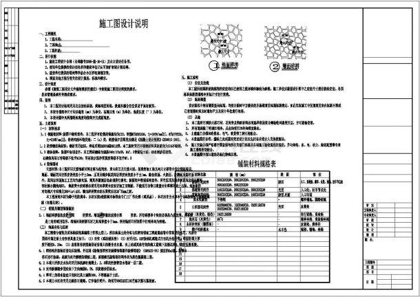 [福州]小区园林景观工程施工图,含设计总说明及铺装材料规格表-图二
