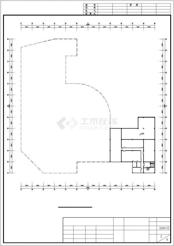 2400平米五层框混结构百货商场建筑设计CAD图纸(含地下层)-图一