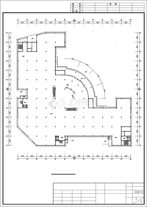 2400平米五层框混结构百货商场建筑设计CAD图纸(含地下层)-图二