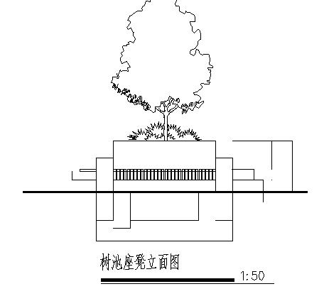 某广场树池景观设计cad图,共三张-图二