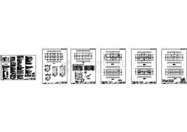 [江苏]3层框架结构办公楼结构cad施工图-图一