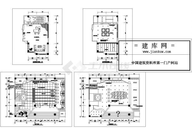 某豪华办公楼经理室室内装修设计cad全套施工图(甲级院设计)-图一