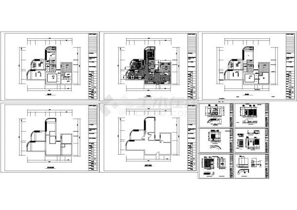 某90平米家庭装饰室内装修设计cad全套施工图(含设计说明)-图二