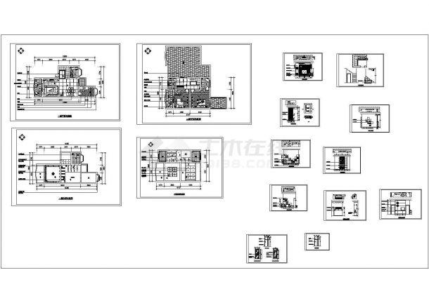 某50平米跃层户型室内家庭设计装修cad全套施工图(甲级院设计)-图一