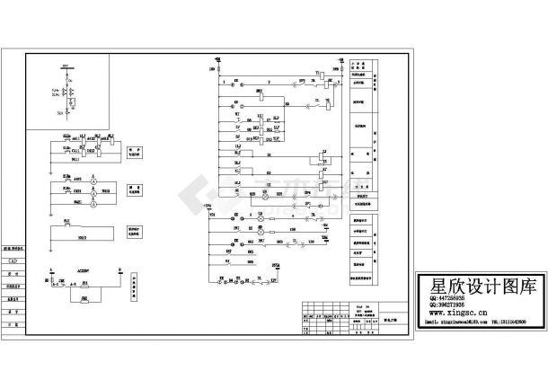 某标准型号高压开关柜二次电气控制原理设计CAD图纸-图一