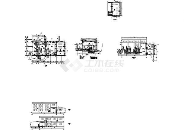 四川某小水电站厂房cad设计建筑施工图纸(标注详细)-图二