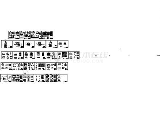 某大型水利电站厂房详细设计cad建筑施工图(含结构设计,29张图)-图二