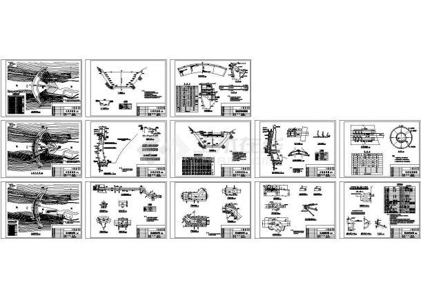 某大型水电站设计cad详细施工图(甲级院设计,13张图)-图二