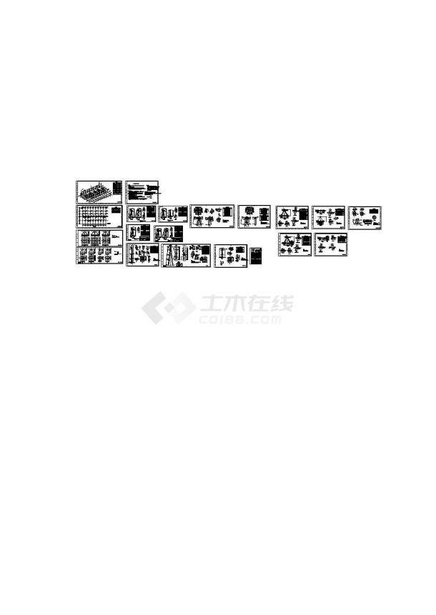 220kV变电站220kV构架完整施工图纸-图一