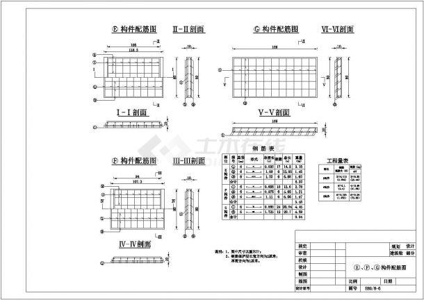 【精选】水利工程涵洞圆涵构件配筋设计CAD图纸-图一