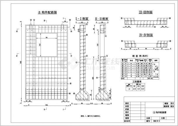 【精选】水利工程涵洞圆涵构件配筋设计CAD图纸-图二
