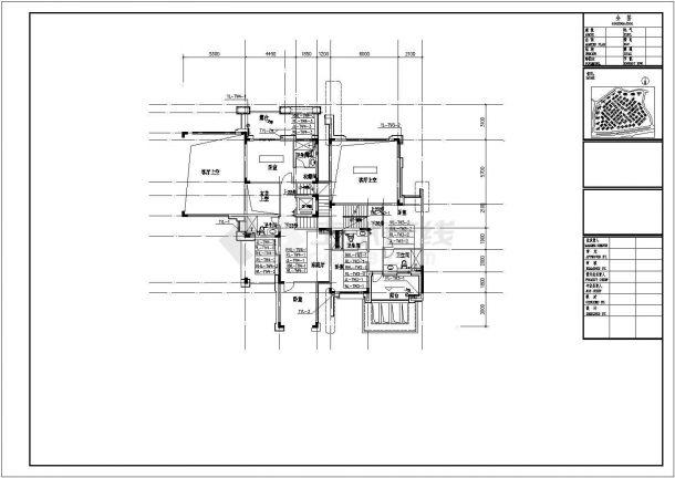 [深圳]联排叠拼多户型高档住宅小区给排水竣工图纸(太阳能系统 中水系统)cad图纸-图一