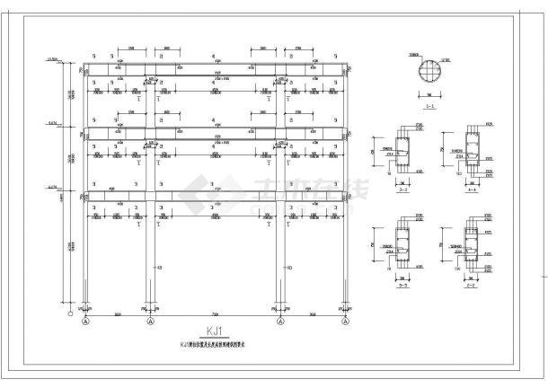 办公楼设计_某城市砖混结构办公楼建筑CAD施工图-图一