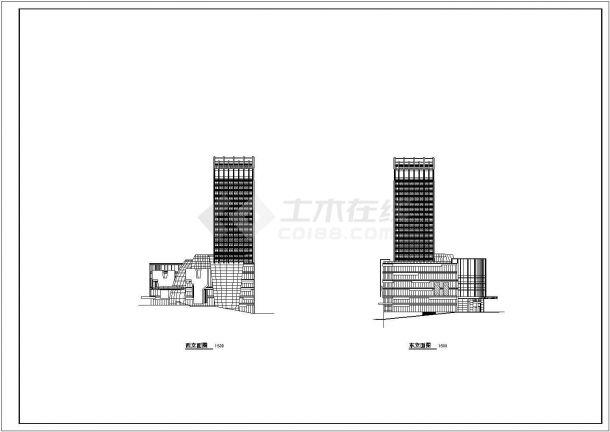 某国际商贸中心城市综合体设计cad详细扩初图(含总平面图)-图一