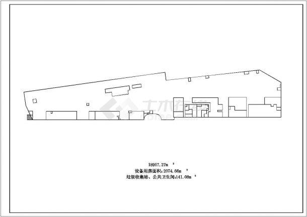 某国际商贸中心城市综合体设计cad详细扩初图(含总平面图)-图二