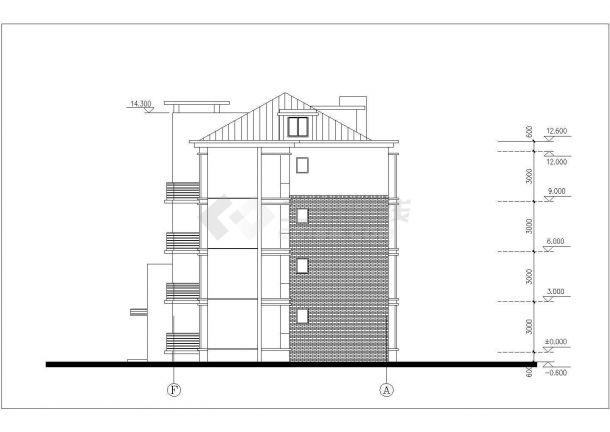 三层+四层两套双拼式民居楼全套建筑设计CAD图纸(含阁楼层)-图一