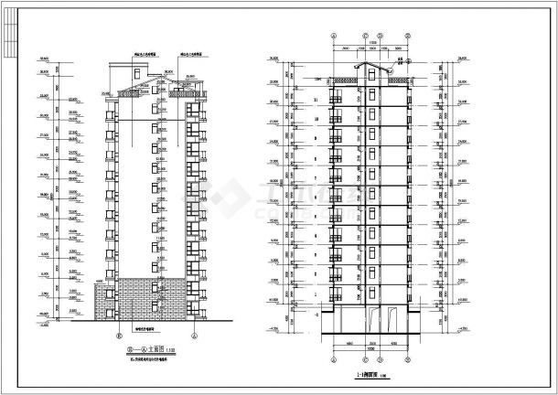 芜湖市某小区6千平米11层剪力墙结构住宅楼全套建筑设计CAD图纸-图一