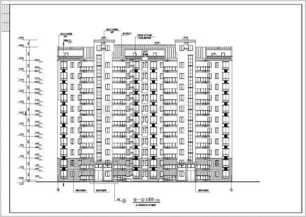 芜湖市某小区6千平米11层剪力墙结构住宅楼全套建筑设计CAD图纸-图二