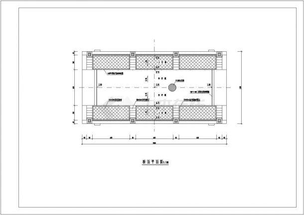 武汉市某湿地公园内部景观桥全套建筑设计CAD图纸-图二
