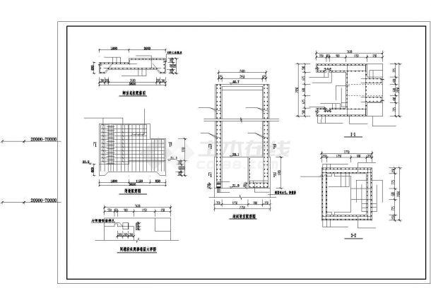 【精选】水库工程穿坝涵洞设计CAD图纸-图二