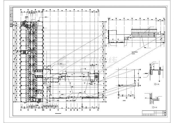 某7.1万平米二十层花园大酒店建筑施工图设计图图纸-图二