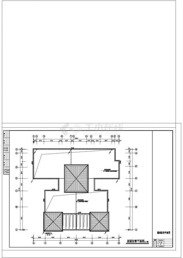 12层商住楼(点式)全套电气图cad图纸-图二