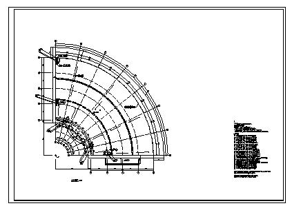 某三层钢筋混凝土框架结构综合楼建筑施工cad图(含工程预算书,水电预算书)-图一