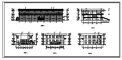 某三层钢筋混凝土框架结构综合楼建筑施工cad图(含工程预算书,水电预算书)-图二