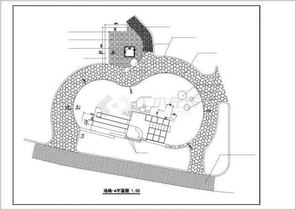 北京某居住区内部儿童乐园景观设计CAD图纸-图二