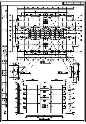某地六层框架结构员工宿舍楼建筑施工cad图(含工程量计算书设计)-图一