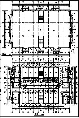 某地六层框架结构员工宿舍楼建筑施工cad图(含工程量计算书设计)-图二