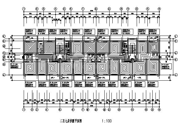 土木工程毕业设计_七层低温地板辐射采暖设计cad图(含毕业设计)-图二
