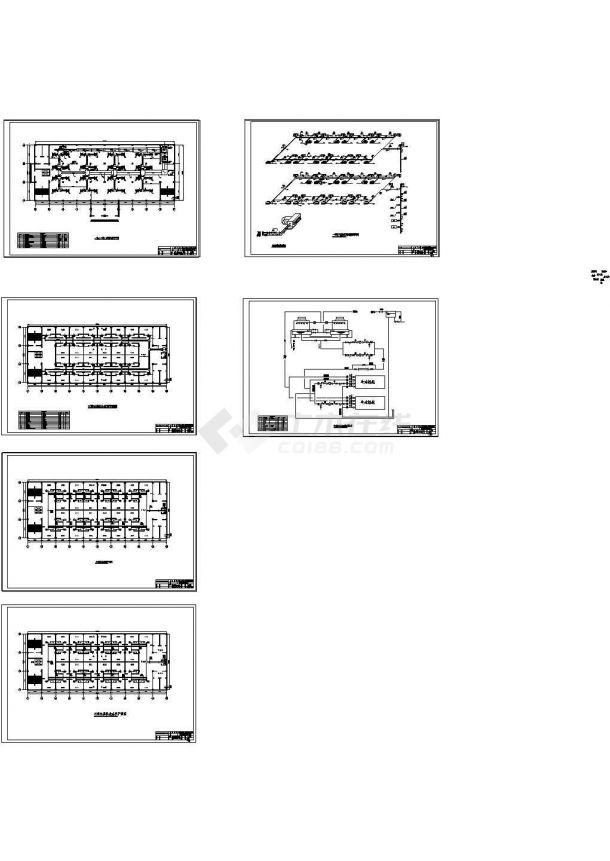 [施工图][北京]多层商场综合楼空调通风及采暖系统设计施工图纸(含计算书)-图一