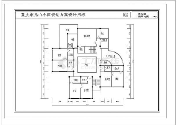上海市某幼儿园建筑设计施工图-图一