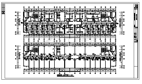 土木工程毕业设计_办公楼设计_8100平方米宁波某九层办公楼中央空调系统设计cad图(含毕业设计)-图二