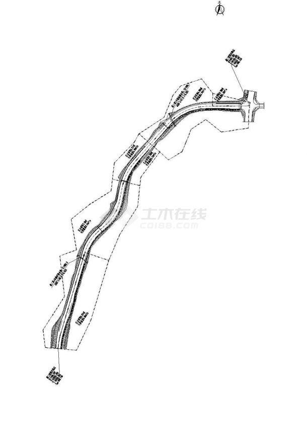 重庆市某1.2公里市政道路排水施工全套设计CAD图纸-图二