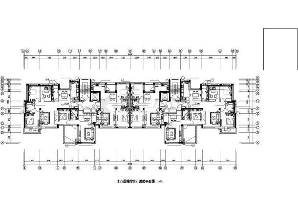 南京市某18层商住楼给排水系统设计CAD图纸-图一