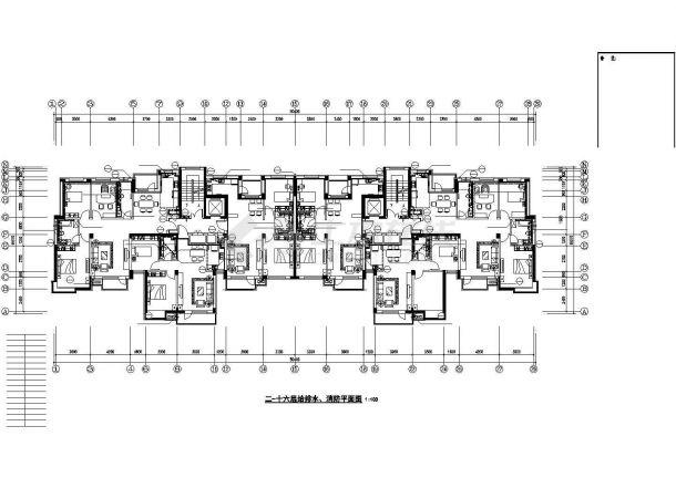 南京市某18层商住楼给排水系统设计CAD图纸-图二