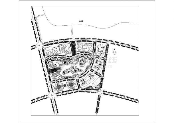 某综合区总平面景观设计图图纸-图一