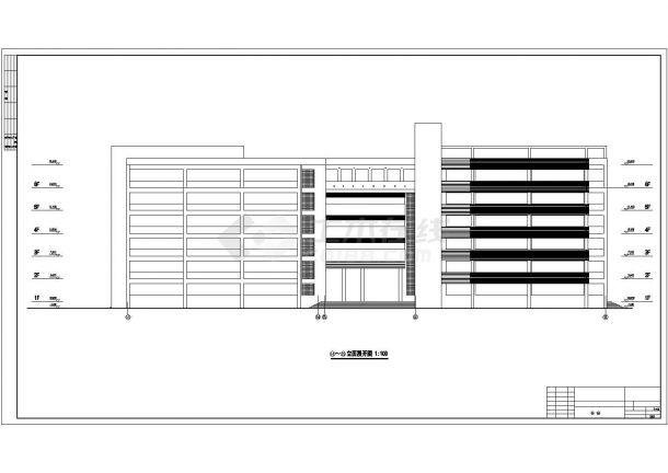 某六层教学楼施工方案cad图图纸-图一