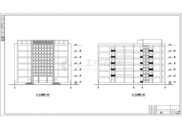 某六层教学楼施工方案cad图图纸-图二