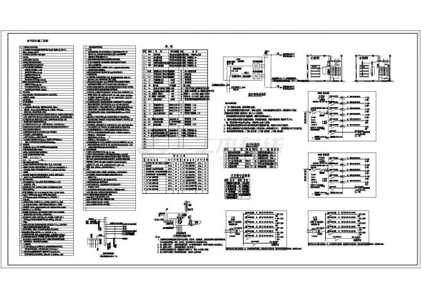厂房设计_某厂区一大型电子厂房电气设计图纸-图二